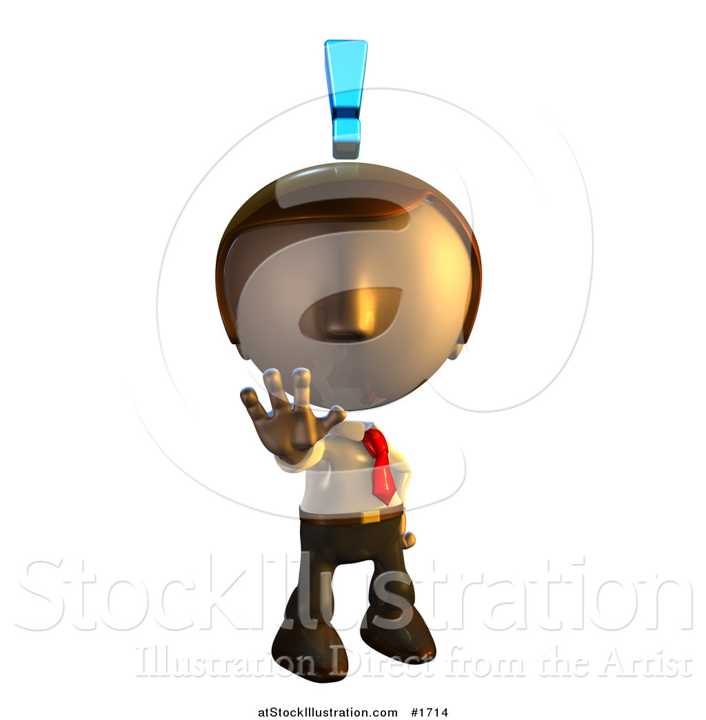 Illustration of a Pete Man Character Holding out His Hand with an ...