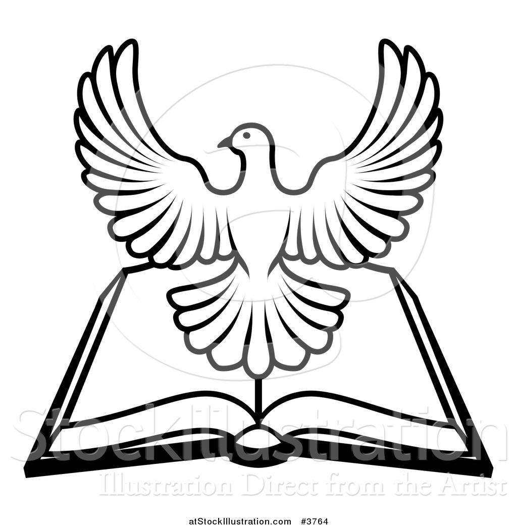 Holy spirit dove clipart black and white - photo#23