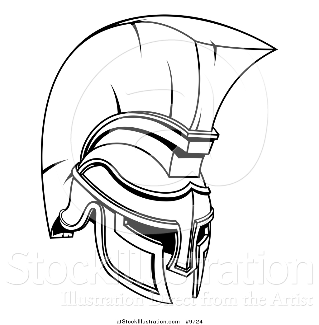Spartan helmet coloring pages for Spartan mask template