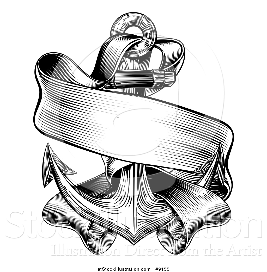 Vector Illustration of a Black and White Retro Woodcut or ...