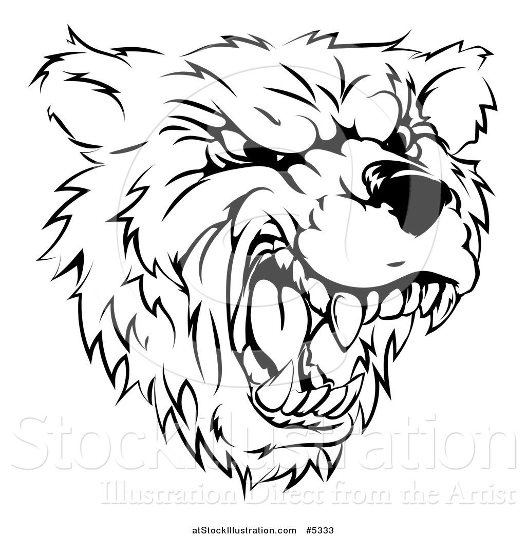 Vicious Bear Drawing