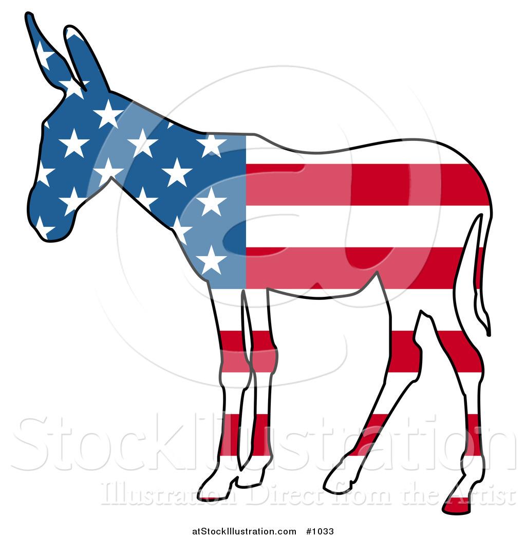 Donkey Democrat Vector 80214 | NOTEFOLIO