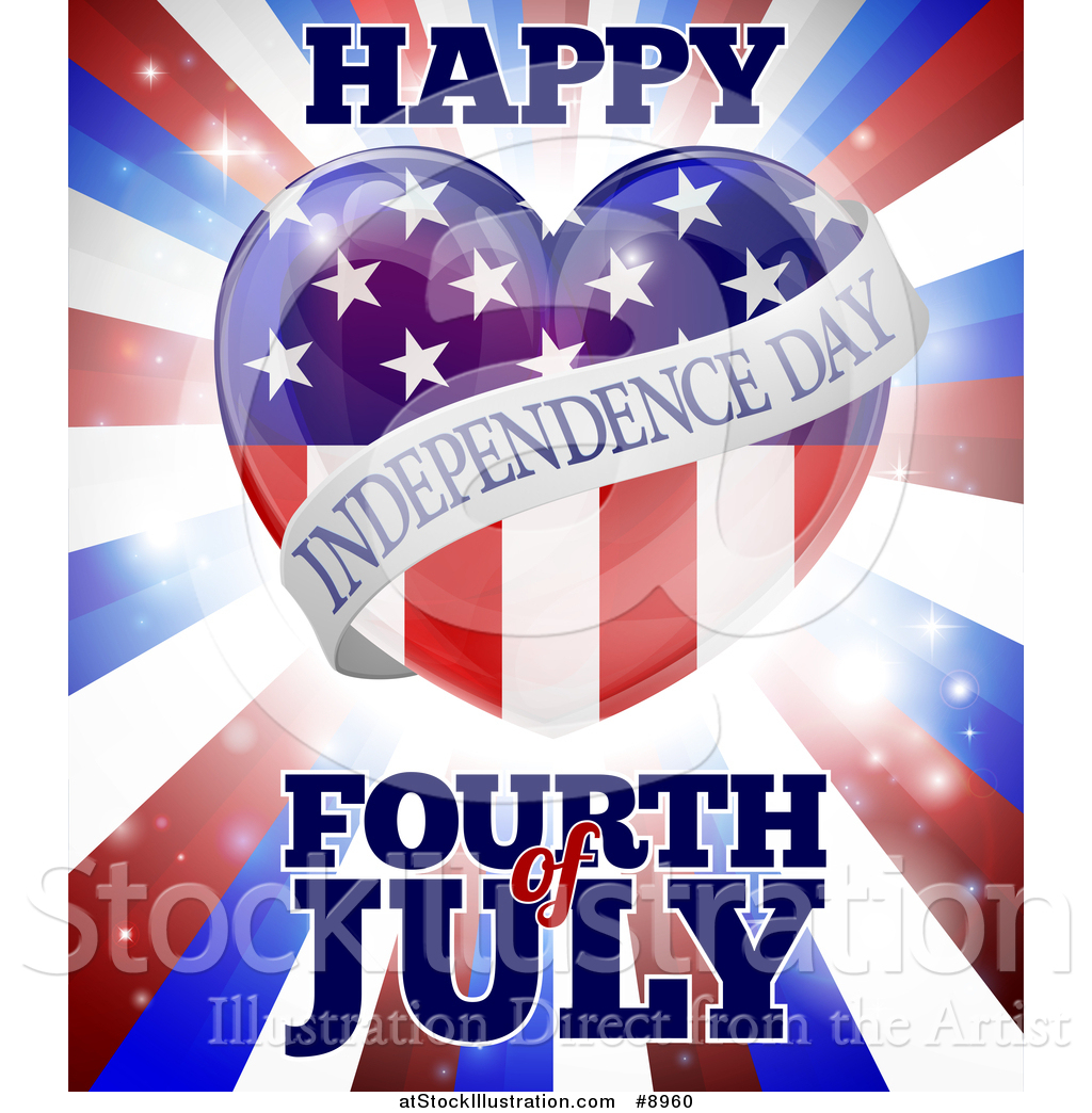 Vector Illustration of a Fourth of July Happy Independence Day ...