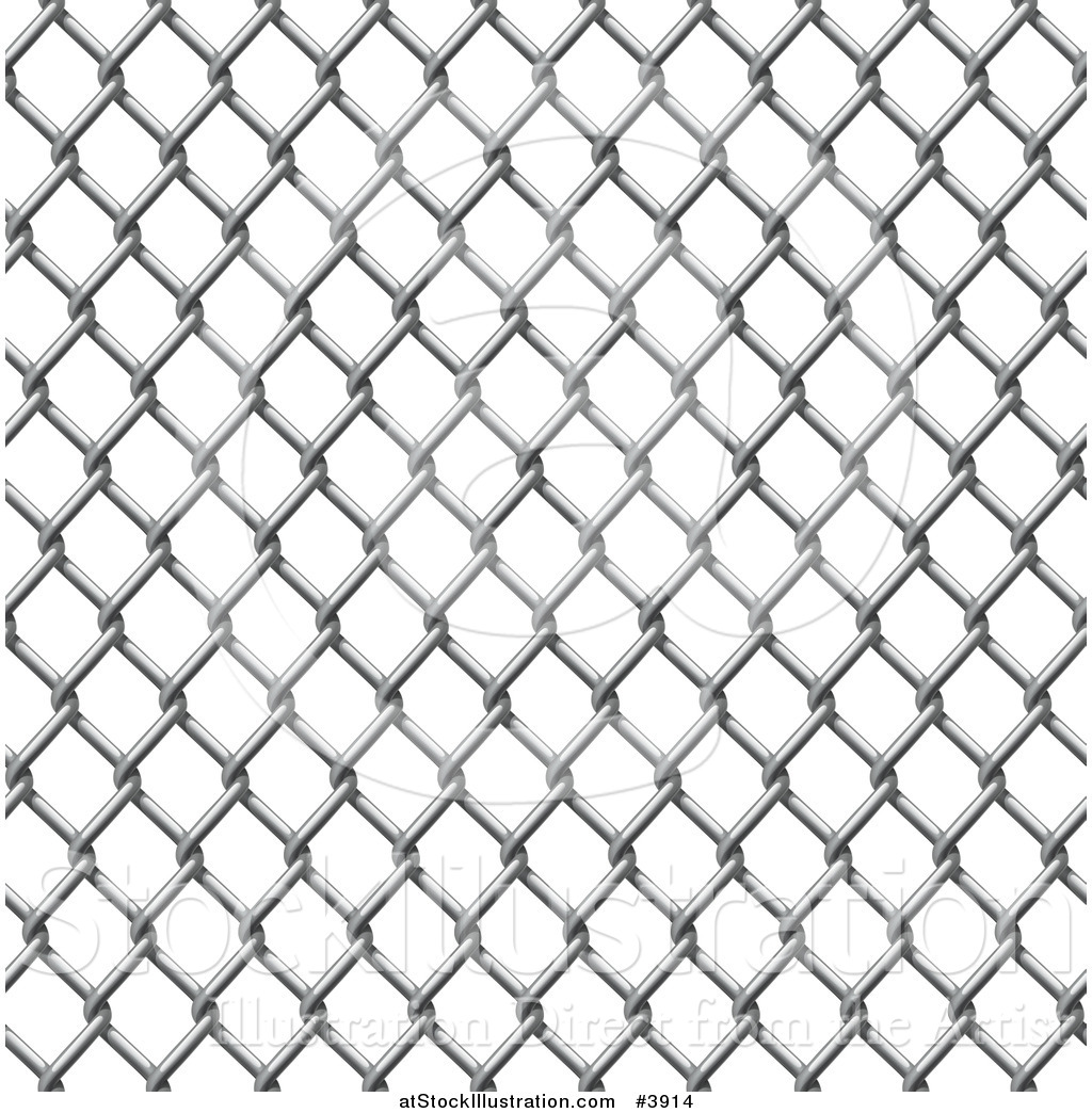 Chain Link Vector vector illustration of a seamless chain link fence pattern