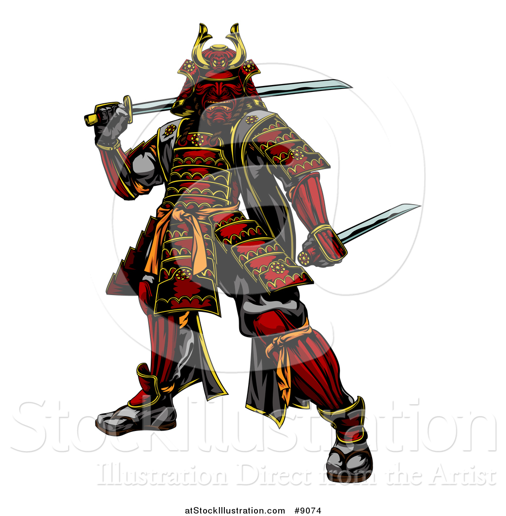 how to draw a cartoon samurai warrior