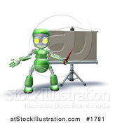 Illustration of a Board and Green Robot by AtStockIllustration