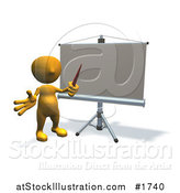 Illustration of a Board and Man by AtStockIllustration