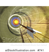 Illustration of a Dart near the Target by AtStockIllustration
