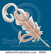 Illustration of a Feather Plum Quill by AtStockIllustration