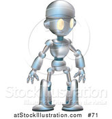 Illustration of a Friendly Metal Robot by AtStockIllustration