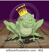 Illustration of a Frog Prince Wearing a Crown by AtStockIllustration