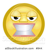 Illustration of a Frustrated Emoticon Gritting Teeth by AtStockIllustration