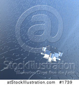 Illustration of a Jigsaw Puzzle Piece Lowing down on Bright Light in a Puzzle by AtStockIllustration