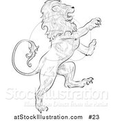 Illustration of a Lion Attacking, Leo, Astrological Sign of the Zodiac by AtStockIllustration