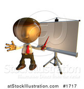 Illustration of a Presentation Board and Pete Man by AtStockIllustration