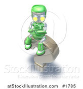 Illustration of a Question Mark and Green Robot by AtStockIllustration