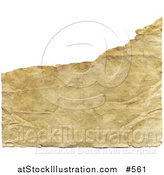 Illustration of a Ripped, Aged, Yellowed and Wrinkled Paper Background by AtStockIllustration