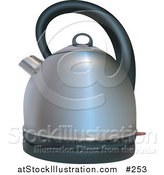 Illustration of a Silver Coffee or Tea Kettle by AtStockIllustration