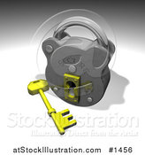 Illustration of a Silver Security Padlock by AtStockIllustration