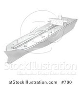 Illustration of a Tanker Ship by AtStockIllustration