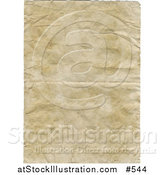 Illustration of an Aged Wrinkly Old Paper Background by AtStockIllustration