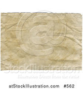 Illustration of an Aged, Yellowed and Wrinkled Paper Background by AtStockIllustration