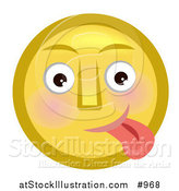 Illustration of an Emoticon Sticking Tongue out by AtStockIllustration
