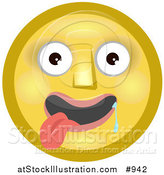 Illustration of an Infatuated Emoticon Drooling with Tongue out by AtStockIllustration