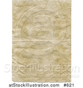 Illustration of Old Parchment Paper with Wrinkle and Crinkles by AtStockIllustration