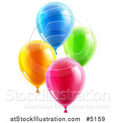 Vector Illustration of 3d Colorful Party Balloons by AtStockIllustration