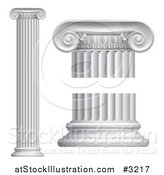 Vector Illustration of 3d Greek or Roman Columns by AtStockIllustration