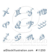 Vector Illustration of 3d Isometric Styled Zodiac Horoscope Astrology Icons by AtStockIllustration