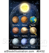 Vector Illustration of 3d Labeled Planets of the Solar System by AtStockIllustration