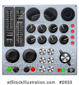 Vector Illustration of 3d Mixing Console Sound Board Buttons by AtStockIllustration