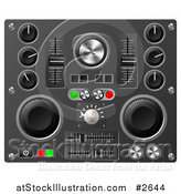 Vector Illustration of 3d Mixing Desk Buttons Knobs and Switches by AtStockIllustration