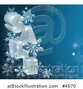 Vector Illustration of 3d SALE Letters and Snowflakes on Blue by AtStockIllustration