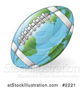 Vector Illustration of a 3d American Football Map Globe by AtStockIllustration