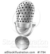 Vector Illustration of a 3d Angled Desk Microphone by AtStockIllustration