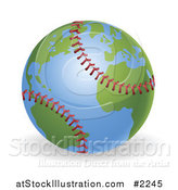Vector Illustration of a 3d Baseball Globe by AtStockIllustration