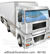 Vector Illustration of a 3d Big Rig Truck by AtStockIllustration
