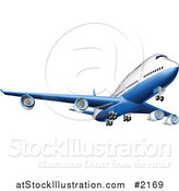 Vector Illustration of a 3d Blue and White Airbus by AtStockIllustration
