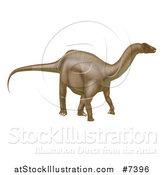 Vector Illustration of a 3d Brown Brontosaurus Dinosaur by AtStockIllustration