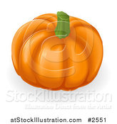 Vector Illustration of a 3d Deep Ridged Pumpkin by AtStockIllustration