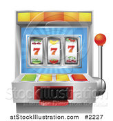 Vector Illustration of a 3d Fruit Slot Machine by AtStockIllustration