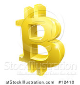 Vector Illustration of a 3d Gold Bitcoin Currency Symbol by AtStockIllustration