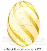 Vector Illustration of a 3d Golden Easter Egg with Stripes by AtStockIllustration