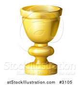 Vector Illustration of a 3d Golden Goblet or Grail by AtStockIllustration