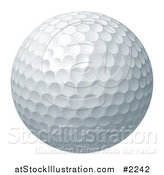 Vector Illustration of a 3d Golf Ball by AtStockIllustration