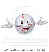 Vector Illustration of a 3d Happy Baseball Mascot by AtStockIllustration