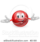 Vector Illustration of a 3d Happy Cricket Ball Mascot by AtStockIllustration
